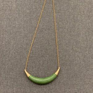 Jasper Crescent Necklace